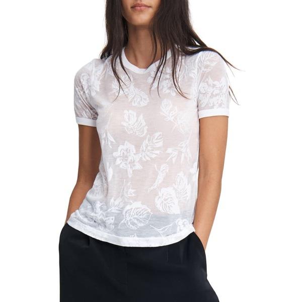 ラグアンドボーン レディース Tシャツ トップス Allover Tropical Graphic Tee Wht