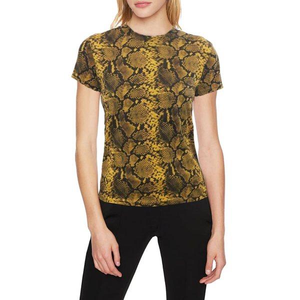 パムアンドジェラ レディース Tシャツ トップス Snakeskin Print T-Shirt Mustard