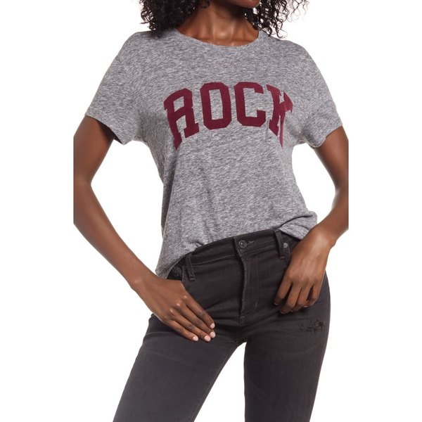 ザディグ エ ヴォルテール レディース Tシャツ トップス Rock Overdyed Graphic Tee Gris Chine