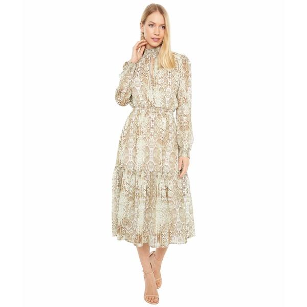 ワイフ レディース トップス 通信販売 ワンピース Sand Snake 全商品無料サイズ交換 Dress Smocked Alston 激安挑戦中 Waist Tiered Midi