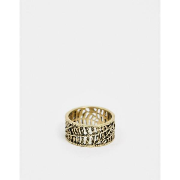 エイソス メンズ アクセサリー リング Gold 全商品無料サイズ交換 エイソス メンズ リング アクセサリー ASOS DESIGN band with leaf detail in gold tone Gold