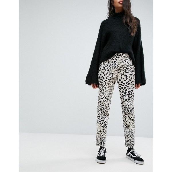 ジースター レディース デニムパンツ ボトムス G-Star 5622 Elwood X 25 Pharrell Jean in Leopard Print Leopard