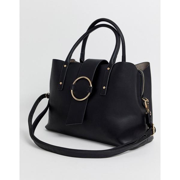 エイソス レディース 財布 アクセサリー ASOS DESIGN tote bag with ring detail Black
