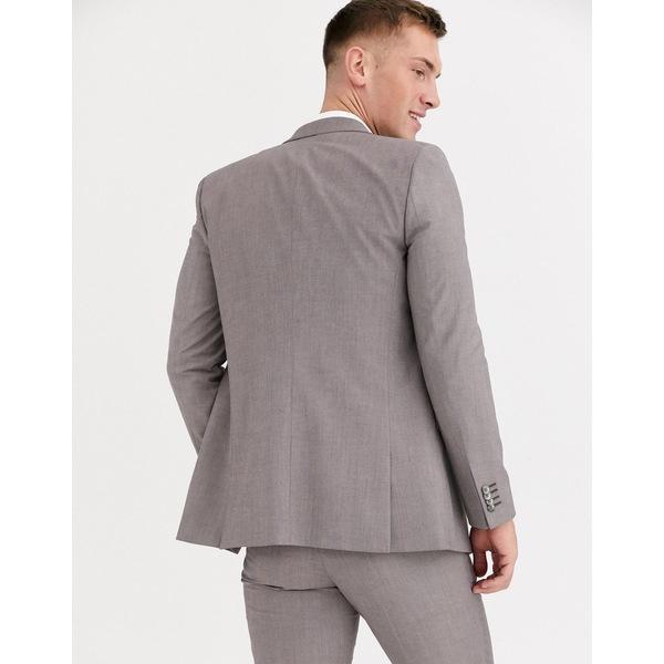 エイソス メンズ ジャケット&ブルゾン アウター ASOS DESIGN wedding slim jacket in violet gray melange Gray