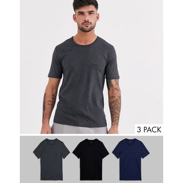 ボス メンズ Tシャツ トップス BOSS bodywear 3 pack logo t-shirts in multi Multi
