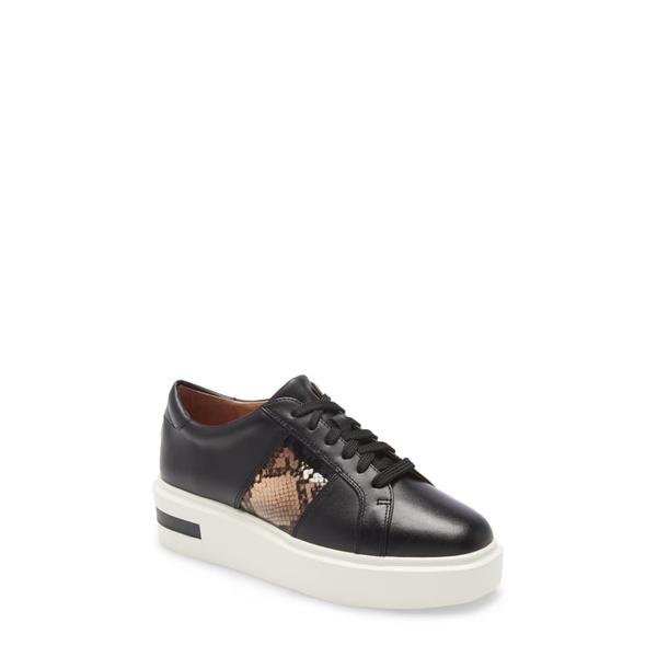 リネアパウロ レディース スニーカー シューズ Karis Platform Sneaker Black Leather