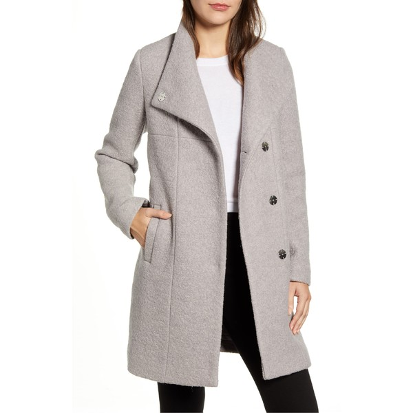 ケネスコール レディース コート アウター Kenneth Cole New York Wool Blend Boucl Coat Nickel