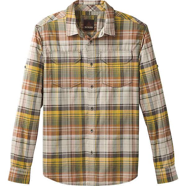 プラーナ メンズ シャツ トップス Prana Men's Citadel Plaid LS Shirt Mocha Bisque