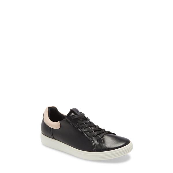 エコー レディース スニーカー シューズ Soft 7 Street Sneaker Black/ Rose Dust Leather