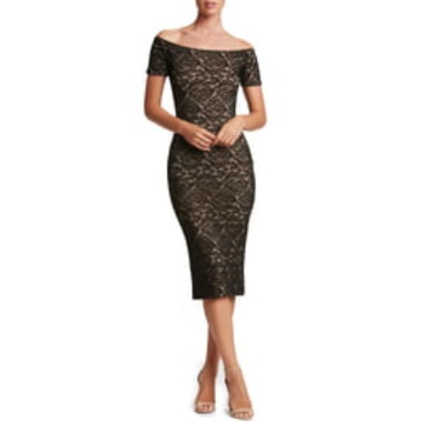 ドレスザポプレーション レディース ワンピース トップス Jemma Midi Dress Black/ Nude