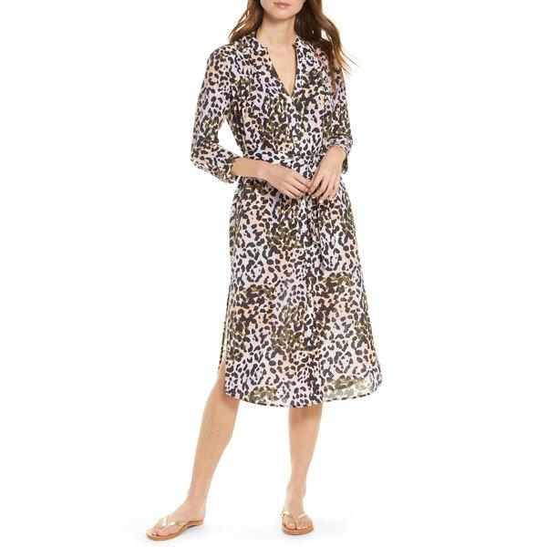 ヴェロニカ ベアード レディース ワンピース トップス Odette Cover-Up Shirtdress Lilac Multi