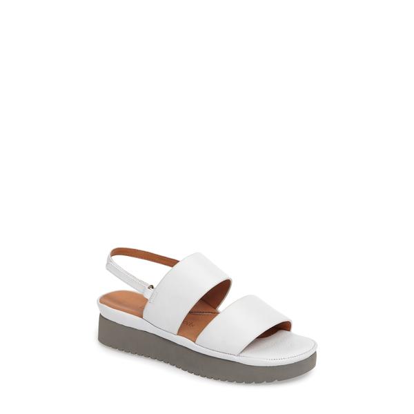 ラモールドピード レディース サンダル シューズ Abruzzo Slingback Platform Wedge Sandal White Leather