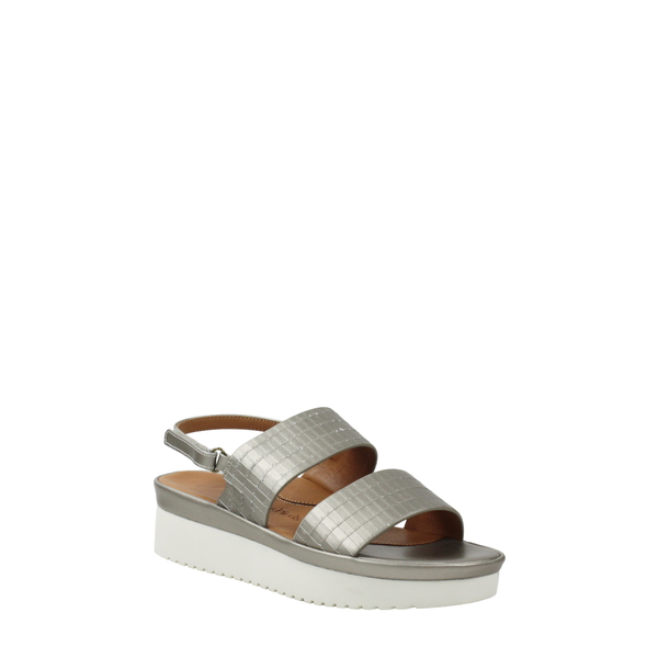 ラモールドピード レディース サンダル シューズ Abruzzo Slingback Platform Wedge Sandal Pearlized Platinum Leather
