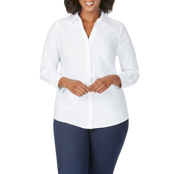 フォックスクラフト レディース シャツ トップス Chrissy Non-Iron Shirt White