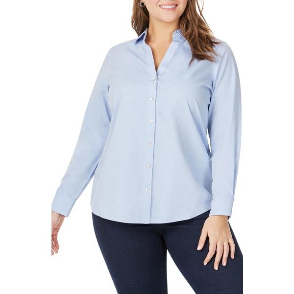 フォックスクラフト レディース シャツ トップス Chrissy Non-Iron Shirt Blue Wave