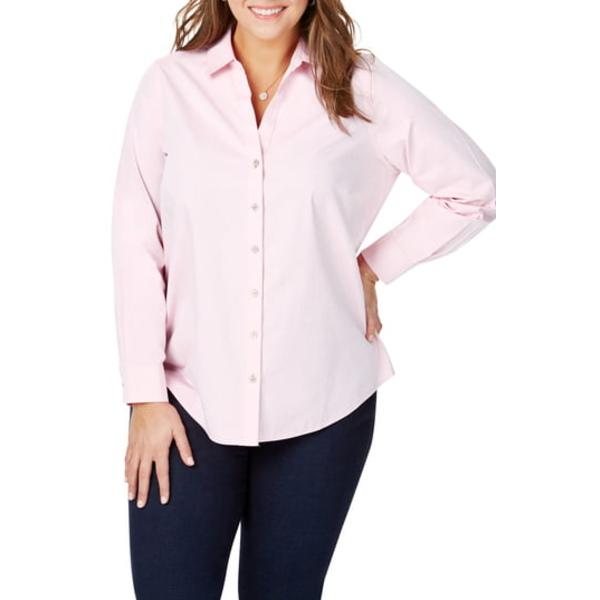 フォックスクラフト レディース シャツ トップス Chrissy Non-Iron Shirt Chambray Pink