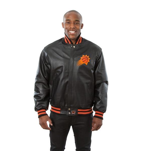 ジェイエイチデザイン メンズ ジャケット&ブルゾン アウター Phoenix Suns JH Design Domestic Team Color Leather Jacket Black