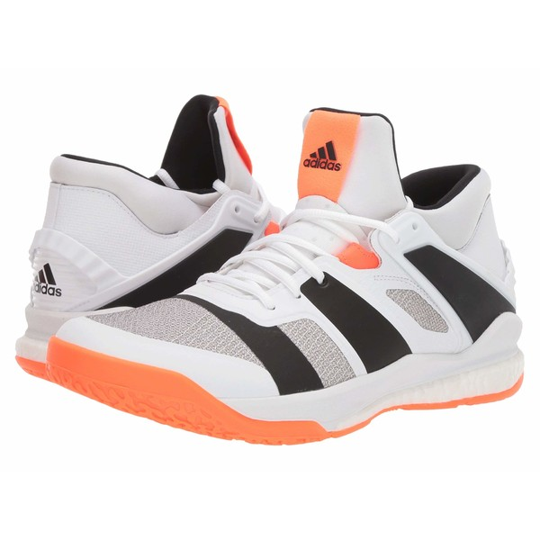 アディダス メンズ スニーカー シューズ Stabil X Mid Footwear White/Core Black/Solar Orange