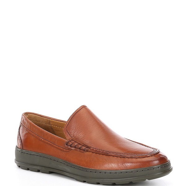 コールハーン メンズ スニーカー シューズ Men's Hamlin Venetian Leather Slip On Shoes British Tan