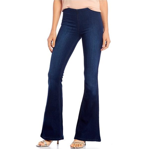 エラモス レディース デニムパンツ ボトムス Pull-On Flare Leg Jeans Nightfall
