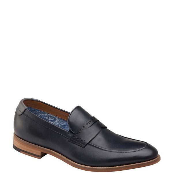 ジョンストンアンドマーフィー メンズ ドレスシューズ シューズ Men's Milliken Leather Penny Loafers Navy