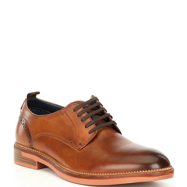 スティーブ マデン メンズ ドレスシューズ シューズ Men's Turnout Leather Lace-Up Dress Shoes Cognac