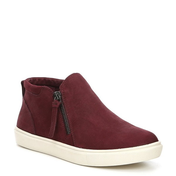 ジービー レディース スニーカー シューズ Ground-Break Double Zip Leather Sneakers Classic Maroon