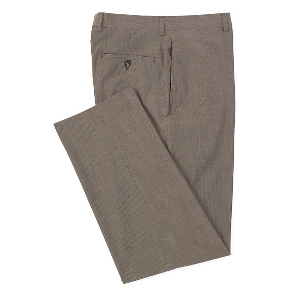 ラルフローレン メンズ カジュアルパンツ ボトムス Relaxed Fit Flat-Front Tonal Stripe Dress Pants Brown