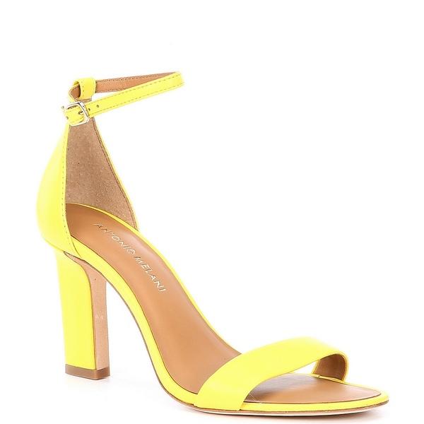 アントニオメラニー レディース サンダル シューズ Stacen Leather Block Heel Dress Sandals Daffadil Yellow