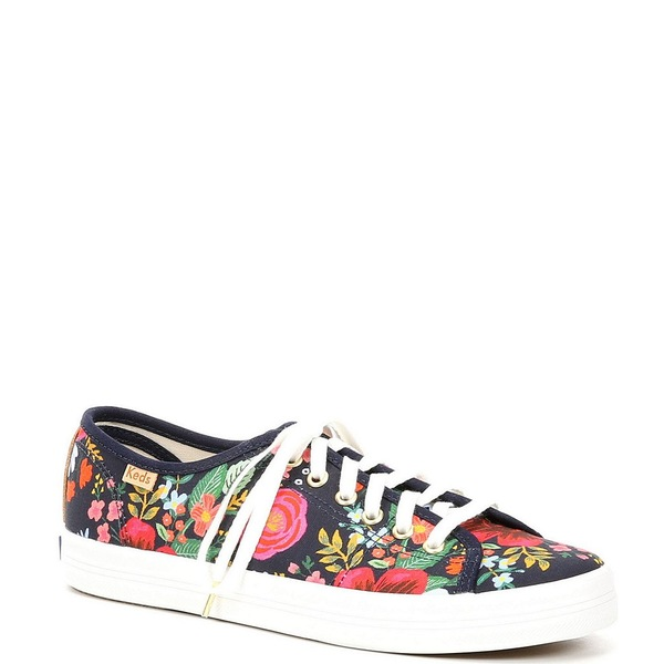 ケッズ レディース スニーカー シューズ Rifle Paper Co. Kickstart Wild Rose Sneakers Navy