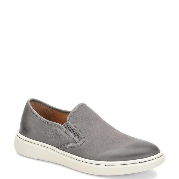 ボーン メンズ スニーカー シューズ Men's Fade Suede Leather Slip On Grey