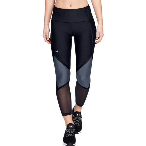 アンダーアーマー レディース カジュアルパンツ ボトムス Under Armour Women's HeatGear Shine Ankle Crop Compression Tights Black