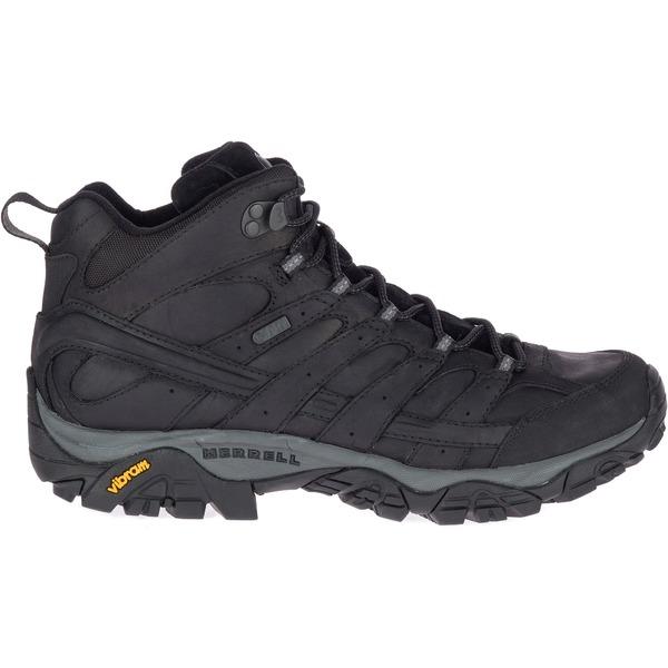 メレル メンズ ブーツ&レインブーツ シューズ Merrell Men's Moab 2 Prime Mid Waterproof Hiking Boots Black