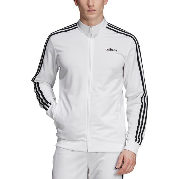 アディダス メンズ ジャケット&ブルゾン アウター adidas Men's Essentials 3-Stripes Tricot Track Jacket (Regular and Big & Tall) White