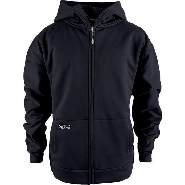 アーバーウェア メンズ パーカー・スウェットシャツ アウター Arborwear Men's Tech Double Thick Full Zip Sweatshirt (Regular and Big & Tall) Black