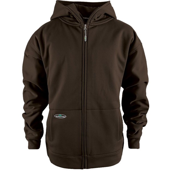 アーバーウェア メンズ パーカー・スウェットシャツ アウター Arborwear Men's Tech Double Thick Full Zip Sweatshirt (Regular and Big & Tall) Chestnut