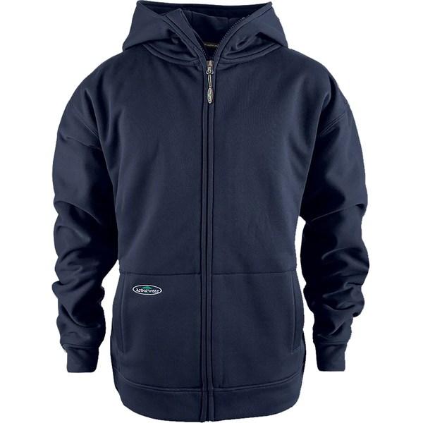 アーバーウェア メンズ パーカー・スウェットシャツ アウター Arborwear Men's Tech Double Thick Full Zip Sweatshirt (Regular and Big & Tall) Navy