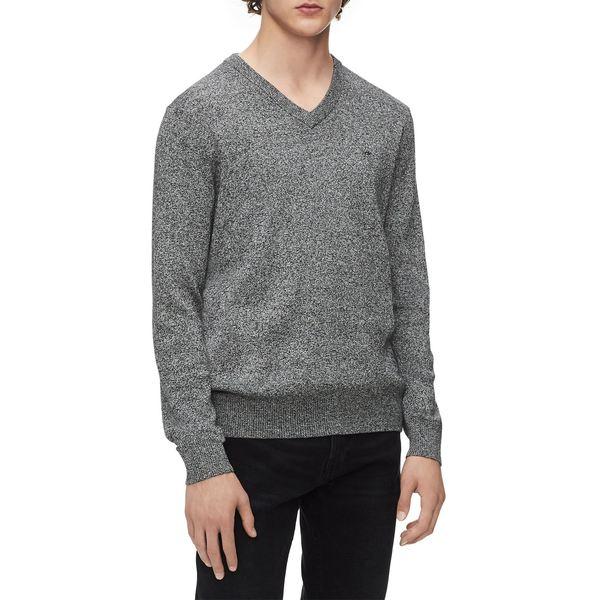 カルバンクライン メンズ ニット&セーター アウター Rib-Trim V-Neck Sweater Grey