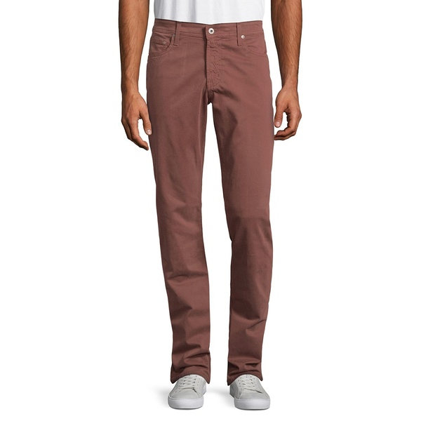 エージージーンズ メンズ デニムパンツ ボトムス Graduate Slim Straight-Fit Jeans Deep Mahogany