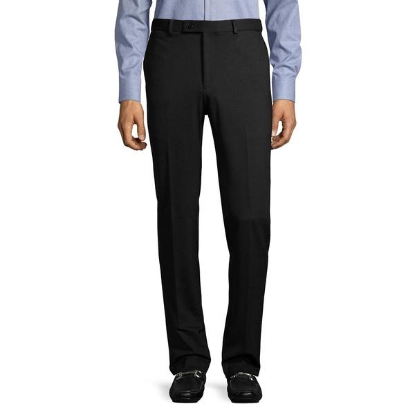 カルバンクライン メンズ カジュアルパンツ ボトムス Flat-Front Tech Dress Pants Black