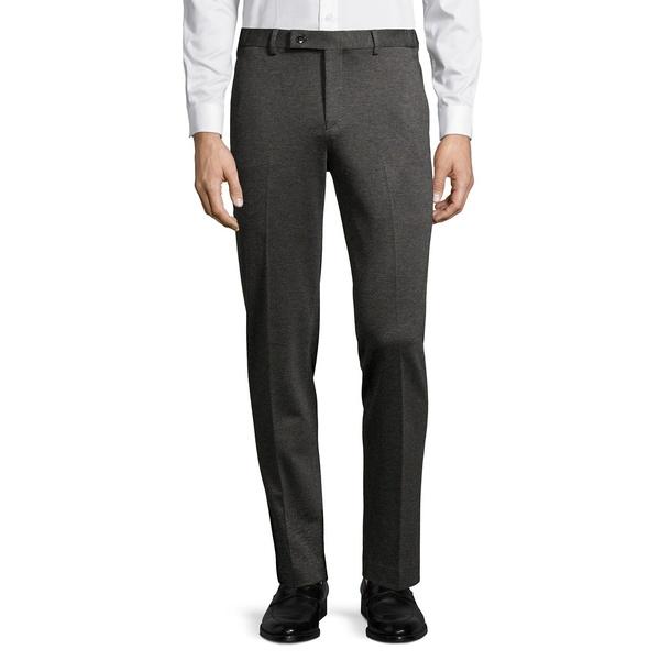 カルバンクライン メンズ カジュアルパンツ ボトムス Flat-Front Tech Dress Pants Charcoal