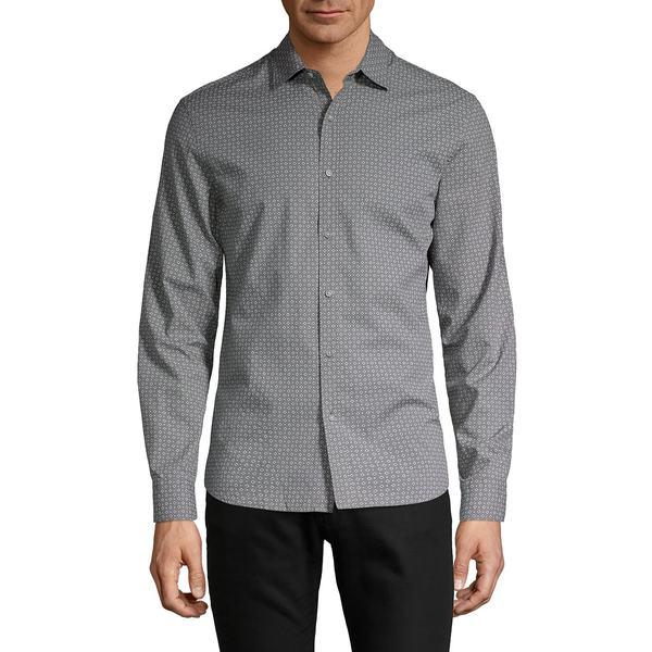 ブラック・ブラウン1826 メンズ シャツ トップス Slim-Fit Check Poplin Shirt Metal