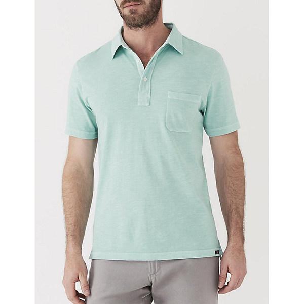 ファエティ メンズ シャツ トップス Faherty Sunwashed Polo Shirt Water Blue