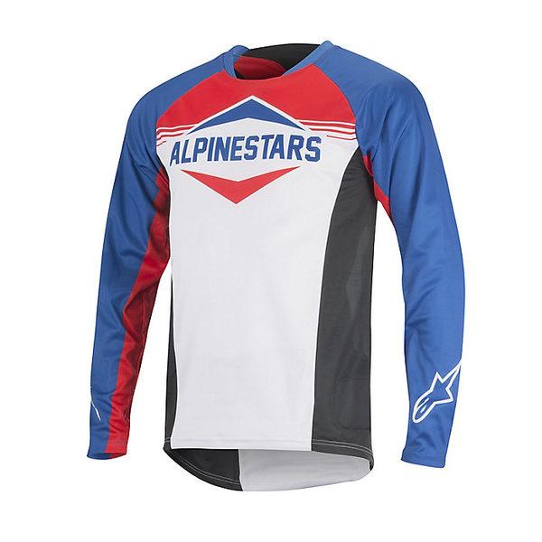アルパインスターズ メンズ サイクリング スポーツ Alpine Stars Men's Mesa LS Jersey Royal Blue / Red / White