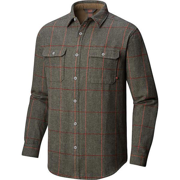 マウンテンハードウェア メンズ シャツ トップス Mountain Hardwear Men's Walcott LS Shirt Peatmoss