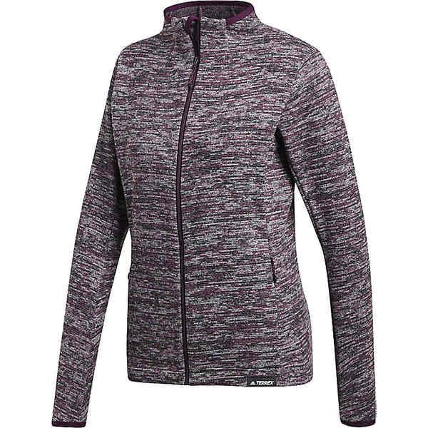 アディダス レディース ジャケット&ブルゾン アウター Adidas Women's Knit Fleece Jacket Red Night