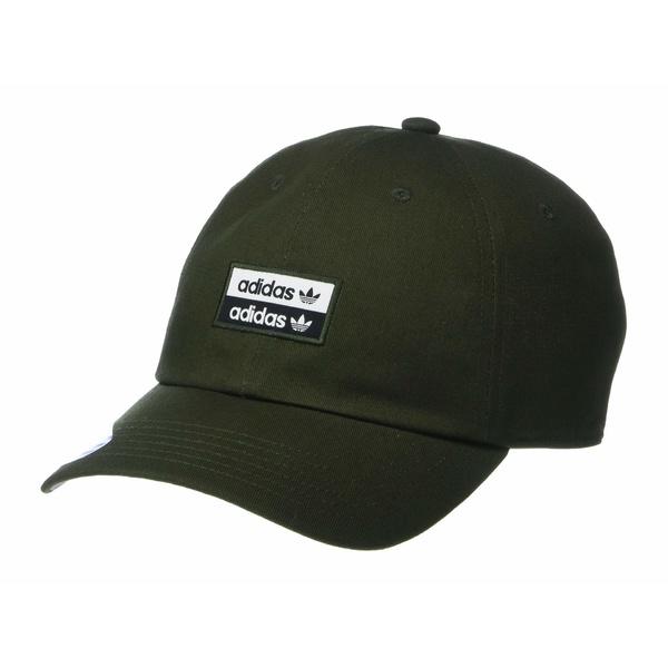 アディダスオリジナルス メンズ 帽子 アクセサリー Originals Stacked Forum Strapback Night Cargo Black WhiteH92WDIEYe