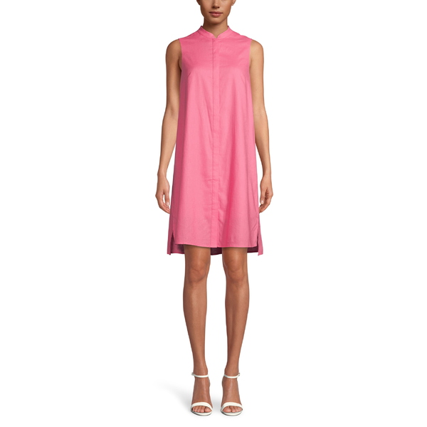 アンクライン レディース ワンピース トップス Anne Klein Linen Trapeze Dress Camellia