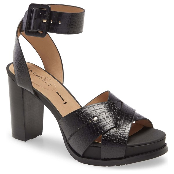 ネイキッドフィート レディース サンダル シューズ Naked Feet Ciro Sandal (Women) Black Leather