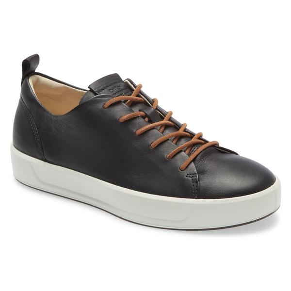 エコー レディース スニーカー シューズ Ecco Soft 8 Sneaker (Women) Black Leather